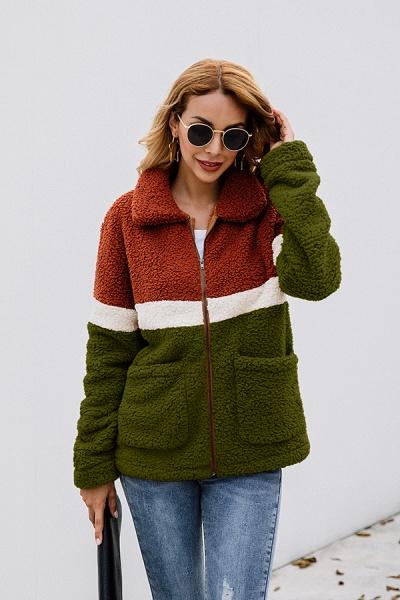 Daily Street Fashion Basic Two Toned Fur Coats_15
