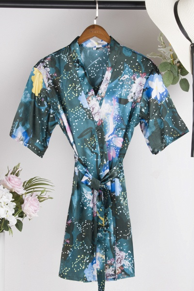 Affordable Printed Bridesmaid Bridal Robes_3