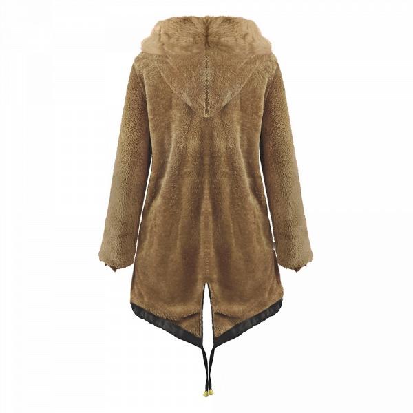 Winter Faux Fur-trimmed Long-length Overcoat_22
