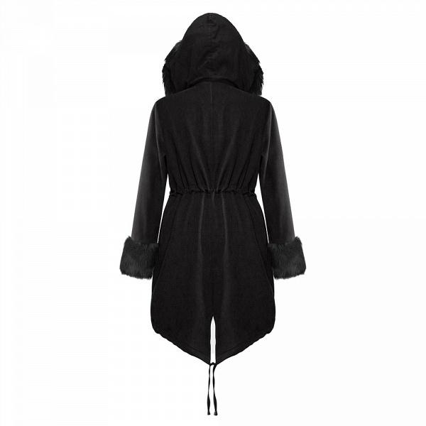 Winter Faux Fur-trimmed Long-length Overcoat_27