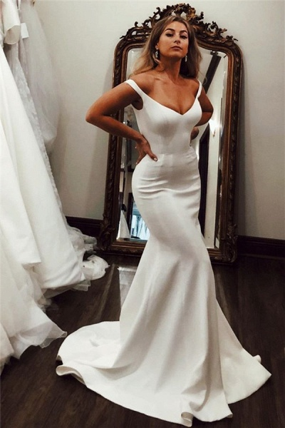 Off-the-shoulder Mermaid Evening Dresses|Pure Formal Gowns_1