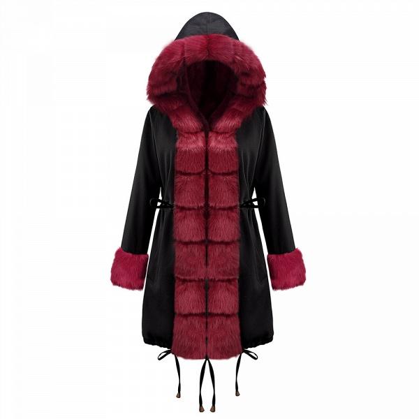 Winter Faux Fur-trimmed Long-length Overcoat_13