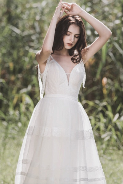 Eye-catching Lace Tulle A-line Wedding Dress_5