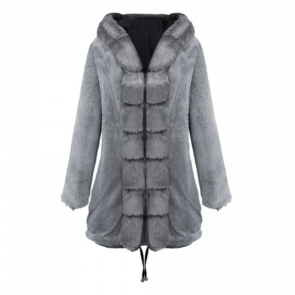 Winter Faux Fur-trimmed Long-length Overcoat_37