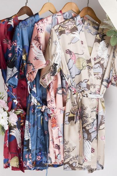 Casual Pattern Bridesmaid Bridal Robes_28
