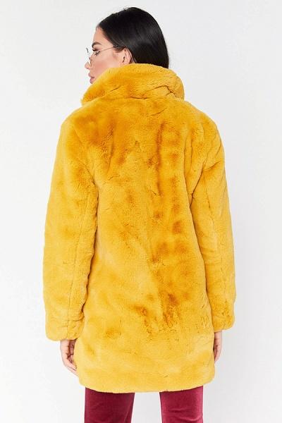 Winter Daily Regular Stand Long Faux Fur Coats_15