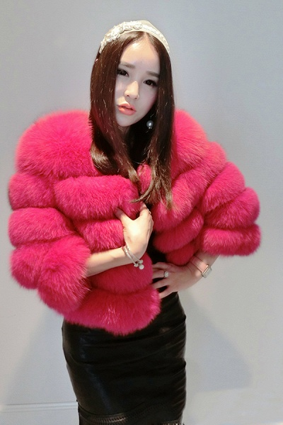 Women's Daily Party Long Faux Fur Coats_4