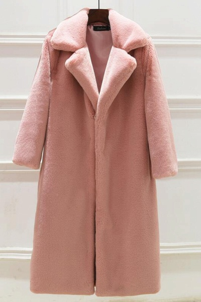 Daily Street Fashion Going out Winter Long Faux Fur Coat_2