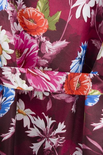 Short Sleeve Floral Print Bridesmaid Bridal Robes_15