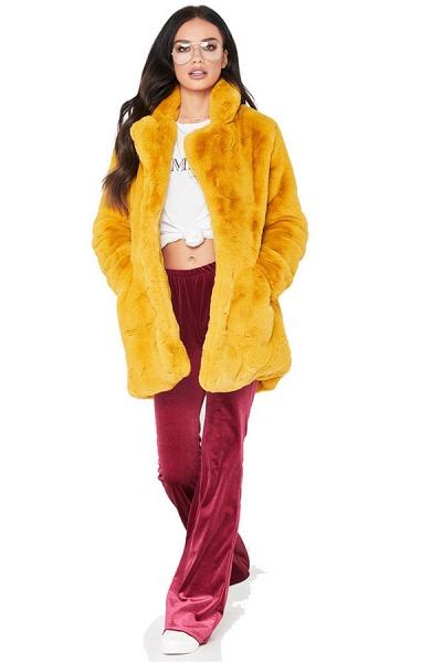 Winter Daily Regular Stand Long Faux Fur Coats_6