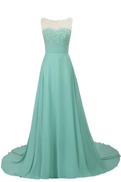 Beautiful Jewel Chiffon A-line Evening Dress_4