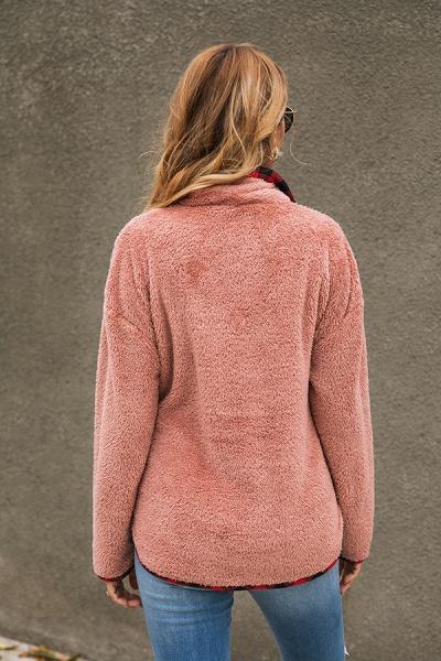 Holiday Coral fleece Turndown Fur Coats_12