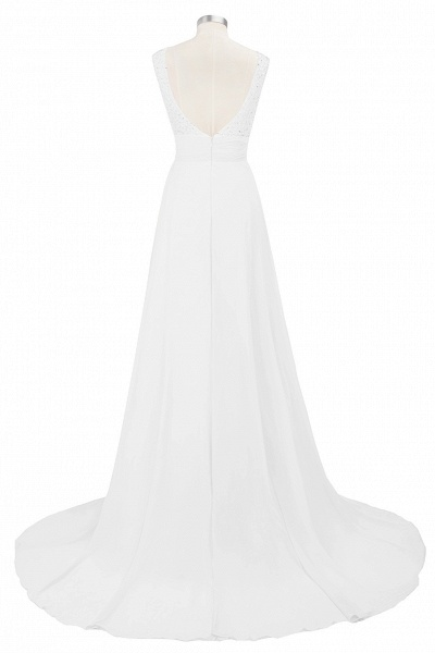 Beautiful Jewel Chiffon A-line Evening Dress_5