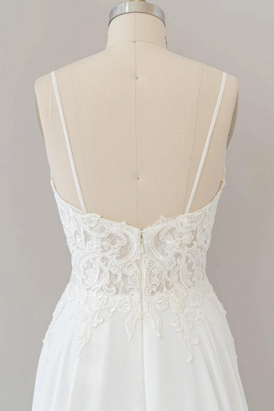 Spaghetti Strap Appliques Chiffon Wedding Dress_8
