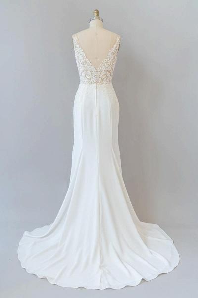 Elegant Lace Floor Length Mermaid Wedding Dress_3