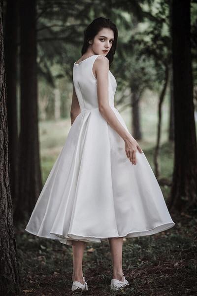 Graceful Satin A-line Wedding Dress_8