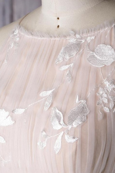 Chic Ruffle Floor Length Tulle A-line Wedding Dress_7