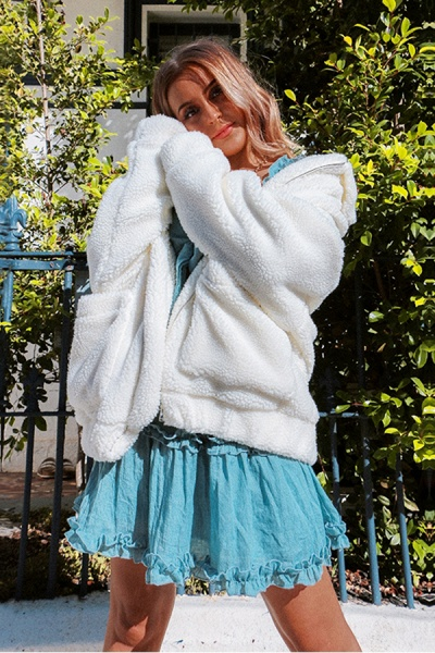 Winter Fashion Going out Basic Regular Faux Fur Coat_12