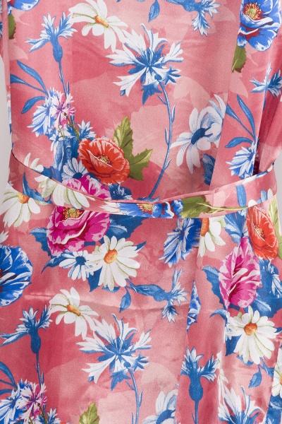 Short Sleeve Floral Print Bridesmaid Bridal Robes_13