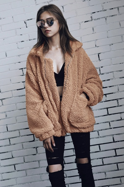 Winter Fashion Going out Basic Regular Faux Fur Coat_10