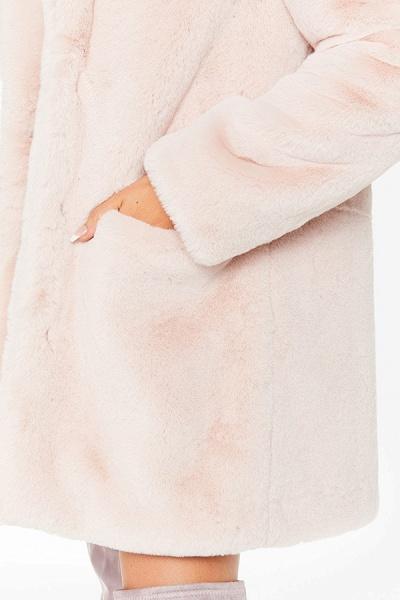 Winter Daily Regular Stand Long Faux Fur Coats_52