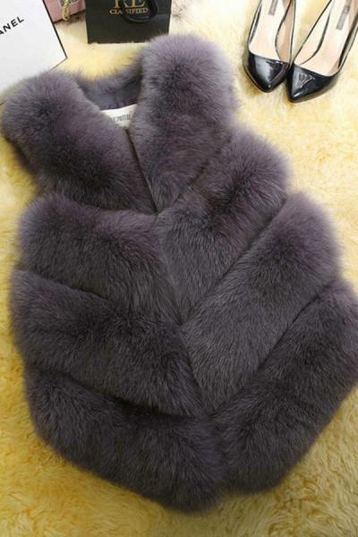 Women's Daily Basic Winter Regular Faux Fur Coats_5