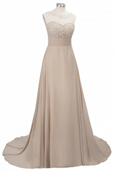 Beautiful Jewel Chiffon A-line Evening Dress_8