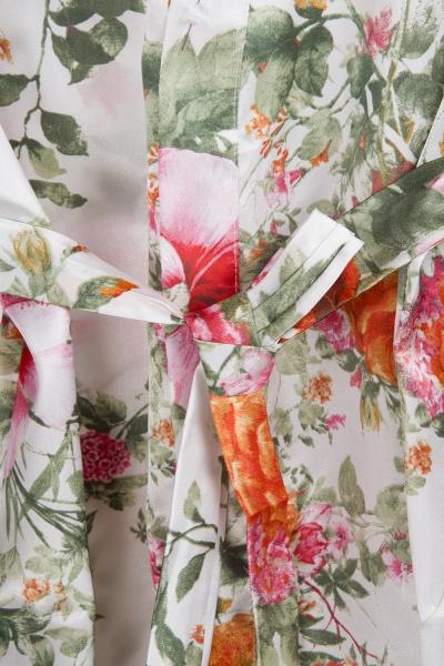 Short Sleeve Floral Print Bridesmaid Bridal Robes_9