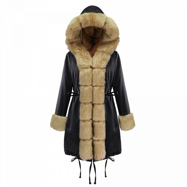 Winter Faux Fur-trimmed Long-length Overcoat_21