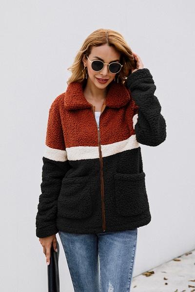 Daily Street Fashion Basic Two Toned Fur Coats_10