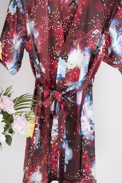 Affordable Printed Bridesmaid Bridal Robes_7