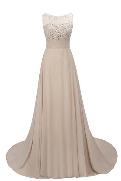 Beautiful Jewel Chiffon A-line Evening Dress_6