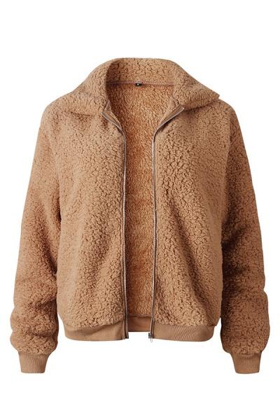 Daily Basic Fashion Winter Regular Faux Fur Coats_5