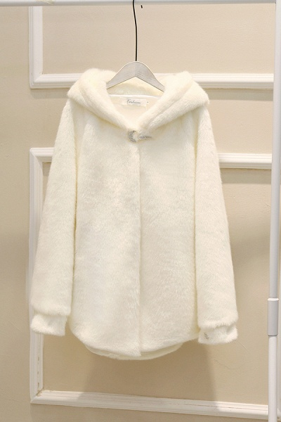 Hooded Daily Basic Club Faux Fur Coat_25