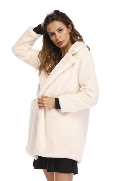 Winter Daily Regular Stand Long Faux Fur Coats_45