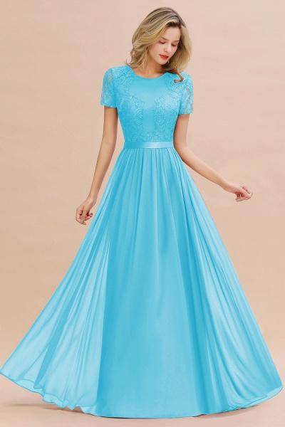 BM0831 Chiffon Lace Scoop Short Sleeve Bridesmaid Dress_24
