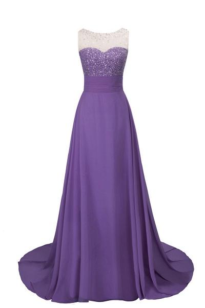 Beautiful Jewel Chiffon A-line Evening Dress_1