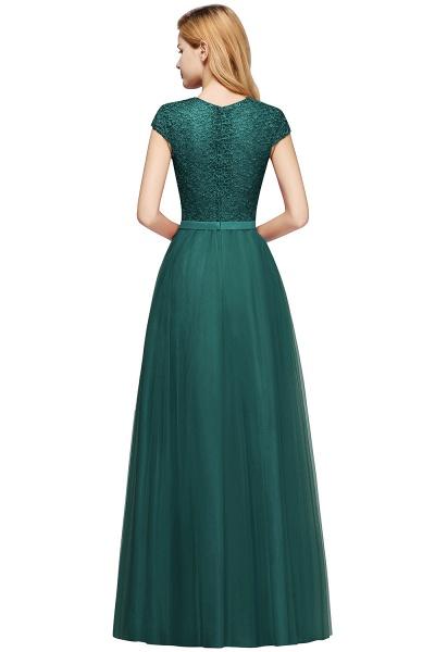 Graceful Jewel Tulle A-line Evening Dress_15