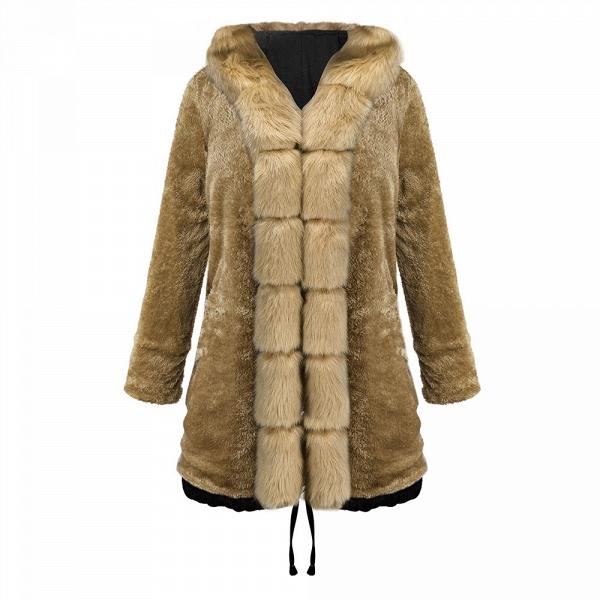Winter Faux Fur-trimmed Long-length Overcoat_25