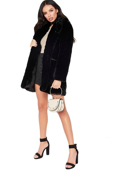 Winter Daily Regular Stand Long Faux Fur Coats_7
