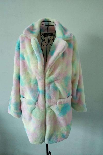 Winter Daily Regular Stand Long Faux Fur Coats_1