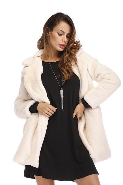 Winter Daily Regular Stand Long Faux Fur Coats_40