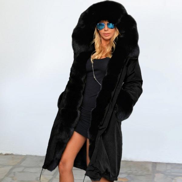 Winter Faux Fur-trimmed Long-length Overcoat_29