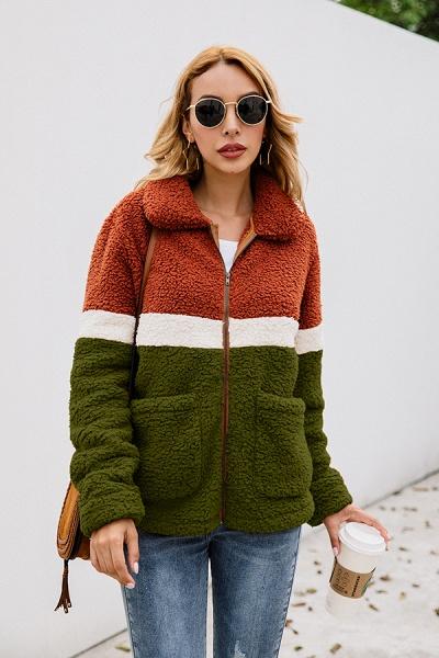 Daily Street Fashion Basic Two Toned Fur Coats_14