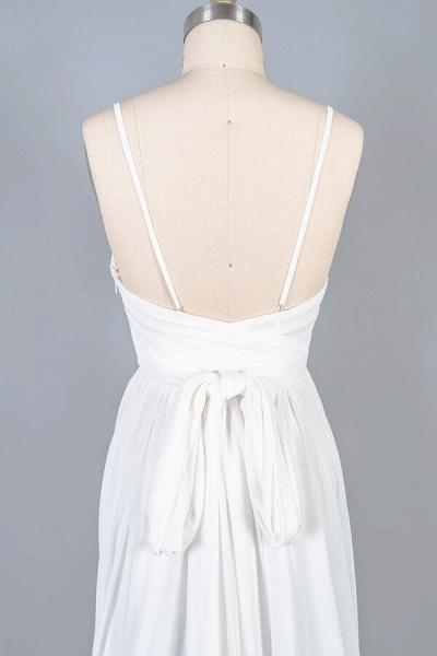 Front Slit Lace Chiffon Sheath Wedding Dress_8