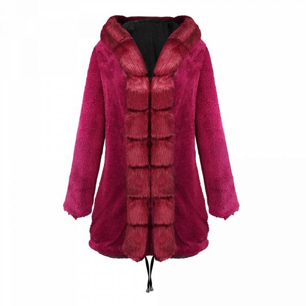 Winter Faux Fur-trimmed Long-length Overcoat_19