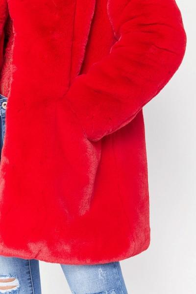 Winter Daily Regular Stand Long Faux Fur Coats_21