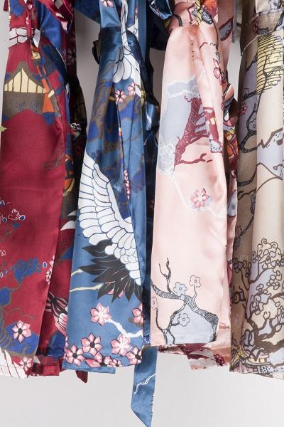 Casual Pattern Bridesmaid Bridal Robes_30