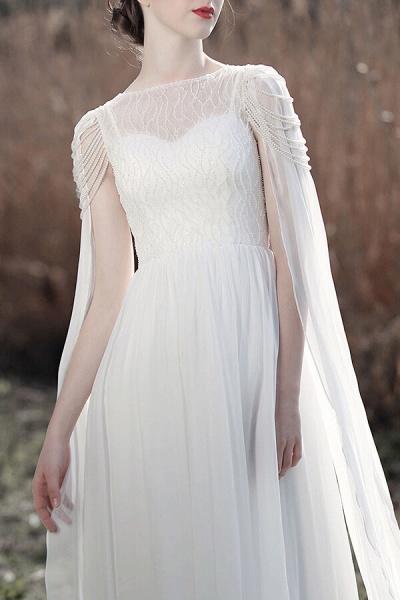 Eye-catching Beading Chiffon A-line Wedding Dress_9