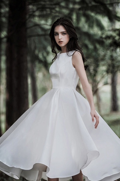 Graceful Satin A-line Wedding Dress_7
